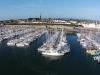 Port Louis' marina. Play d'eau is centre stage