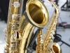 The contrabass, alto and soprano saxophones