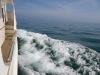 Cruising at 12 knots made a great bow wave
