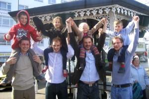 Our 4 sons & 4 grandchildren