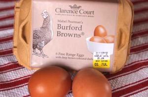 Burford Brown eggs with their dark orange, luscious tasting yolks