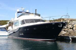 Aquastar 74 in Beaucette Marina Guernsey