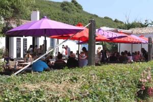 The reception was held at this café at Port de la Meule