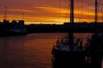 Dawn breaks over Les Sables d'Olonne