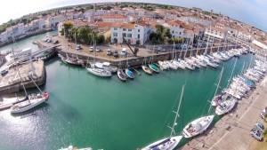 St Martin de Ré marina, taken from our quadcopter