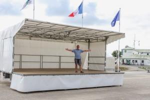 Staging for Pop Concert Énorm in St Denis