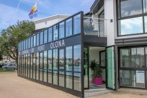 The modern, smart Olona Marina Capitainerie